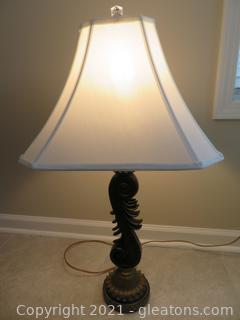 """Fascinating 33"""" H Table Lamp (A)(located in Cottage 1 upstairs)"""