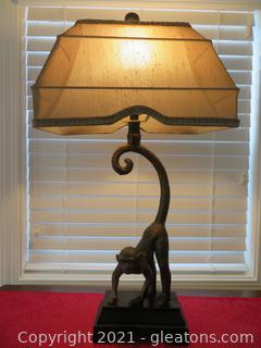 """Whimsical 27"""" H Monkey Table Lamp (located in event center)"""