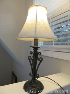 """Sturdy 18"""" H Black Table Lamp (located in Event Center)"""