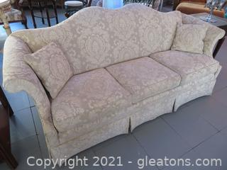Beautiful Key City Camel Back Sofa (located in Event Center)