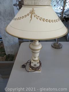 Tole French Empire Bouilette lamp (located in Event Center)