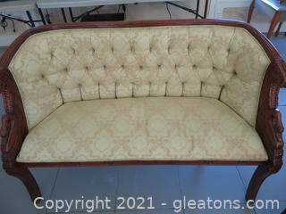 Empire Style Ivory Sofa (located in Event Center)