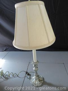 Silver Plated Lamp A (located in Event Center)
