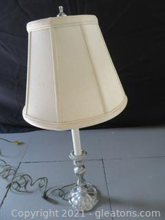 Silver Plated Lamp B (located in Event Center)
