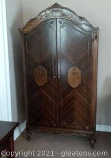 Gorgeous Armoire with Beautiful Veneer Inlays