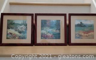 3 Framed Landscape Prints (located in cottage 1)