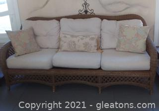 3 Person Wicker Sofa by Henry Link (located in Event Center)