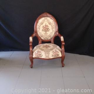 Victorian Style Parlor Chair (located in Event Center)
