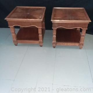 Pair of Mid Century Side Table (located in Event Center)