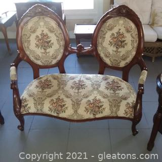 Victorian Style Double Back Settee (located in Event Center)