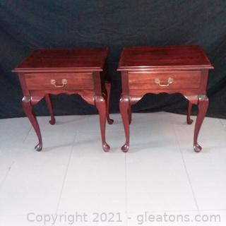 Pair of Queen Anne End Tables/ Night Stands (located in event center)