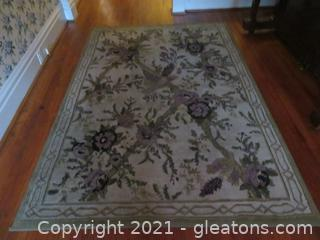 Lovely Navy & Olive Rug (located in house)