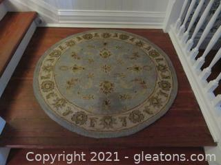 Lovely Blue Round Rug- SaFavieh Heritage  (located in house)