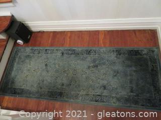 Lovely Dark Teal Rugs – Two (located in house)