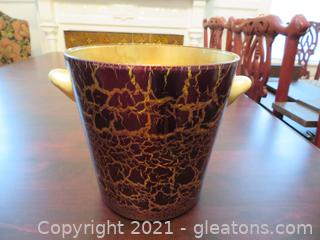 Heavy Gold and Burgundy Champagne Bucket (located in house)