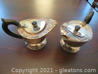 Two Silver Plated Creamers (located in Event Center)