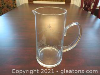 Glass Pitcher with Handle (located in Event Center)