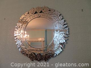 Venetian Wall Mirror (located in house)