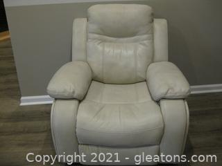 Pier 1 Faux Leather Gliding Recliner
