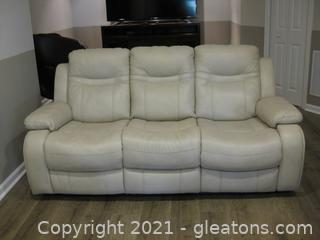 Pier 1 Faux Leather 3 Seater Armed Sofa