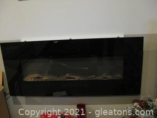 Black Frigidaire Wall-Mount Electric Fireplace