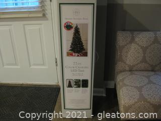 7.5ft Modern Southern Home Color Changing LED Christmas Tree (B)