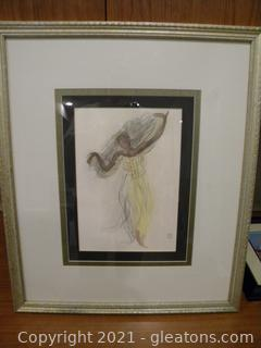"""""""Cambodian Dancer"""" Framed Print by Auguste Rodin, 1906 - Numbered"""
