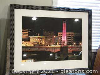 Framed Stylized Cityscape