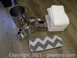 Chrome Bathroom Accessories and Towels