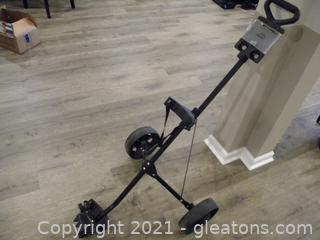 Wheeled Golf Bag Stand