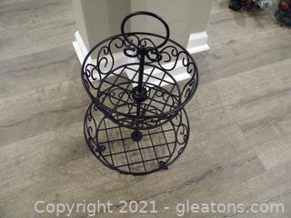 Wrought Iron Storage Baskets