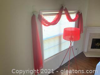 Sheer Curtain Swag