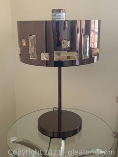 Contemporary Table Lamp W/Acrylic Crystals (A)