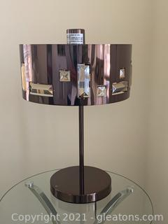 Contemporary Table Lamp W/Acrylic Crystals (B)