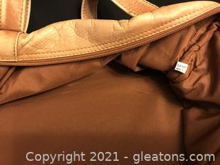 Piel Genuine leather Duffel bag Carry on Faded tan soft leather