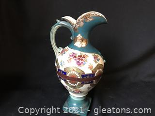 Beautiful hand painted vase pitcher