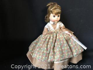 "Madam Alexander  ""Meg"" 8"" doll with box"