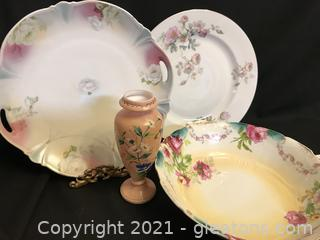 Nice hand painted dish lot