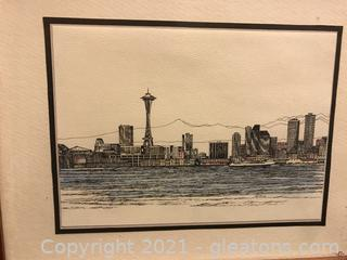Pen and ink of Seattle