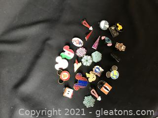 15 Disney Trading pins.mickey mouse rubber backs