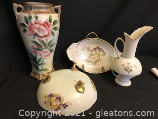 4 piece porcelain lot