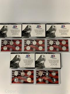 US Mint 50 State Quarters Silver Proof Set