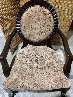 Mahogany Finish Arm Chair
