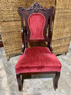 Victorian Velvet Parlor Chair