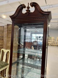 Pulaski Traditional Cherry Curio Cabinet