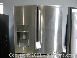 """Samsung 28.2Cu.ft. 4 Door French Door """"Apps"""" Refrigerator with Thru-the-Door Ice + Water"""