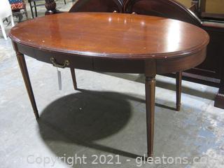 Oval Mahogany Writing Desk