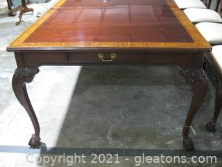 Maitland-Smith Mahogany Chippendale Dining Table (No Chairs)