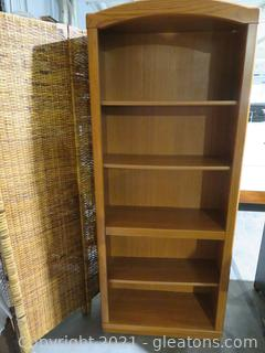 5 Shelf Open Oak Bookcase A-Perfect for Your Office or Family Room