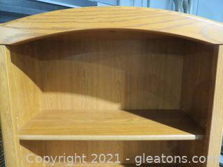 5 Shelf Open Oak Bookcase B-Perfect for Office or Family Room